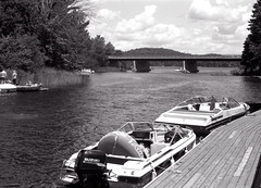 VIP Mooring_ (Bill Smith1) Tags: billsmithsphotography canonf1n daytrip fd50f14lens ilforddelta100 july2016 filmshooterscollective ontario muskoka hc110b