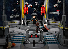 Kill him. Kill him now. (cecilihf) Tags: lego moc star wars starwars sw ep3 episodeiii palpatine anakin dooku micro