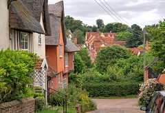 UK, Suffolk, Kersey, The Street (Nik Morris (van Leiden)) Tags: county uk england ford rural suffolk village country halftimbered eastanglia bamford kersey eastofengland easyhdr babergh nx30 ip7
