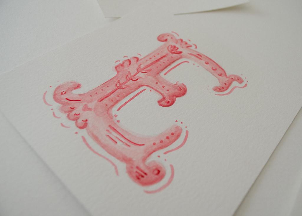E De Emocion Pauminotto Tags Watercolor Letra Letter Lettering Pink