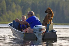 Grandpa's Fishing School (cowgirlrightup) Tags: boy puppy fishing grandfather cowgirlrightup