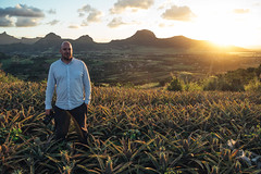 Roald, my colleague - and now a pineapple farmer (ReinierVanOorsouw) Tags: mauritius indianocean travel travelling travels colour island islandlife colours kleur kleuren reizen reinier reiniervanoorsouw sony sonya7r a7r2 a7rii port louis  travelinspiration inspiration mauricius iledemaurice mauricio explore wanderlust  islandstate french   maurcia opreis reisfotografie systemcamera   1person portrait manportrait male man sunset yellow pineapple pineapples ananas anana mountains portret portretfotografie