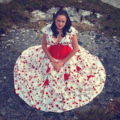 The Dress (Clandrew) Tags: clandrew elizabethmiller location vintage dress portlandbill dorset model