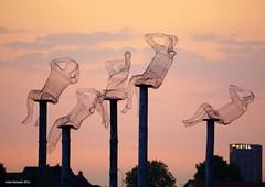 Art @ Vierdaagse festivities, Nijmegen, the Netherlands (Ineke Klaassen) Tags: art dekaaij waalkade nijmegen altijdnijmegen sky lucht avond avondlicht avondrood kunst kunstwerk vierdaagse vierdaagsefeesten 4daagse 4df nimma gelderland outdoor 2016