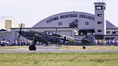 Flying Heritage Collection Messerschmitt Bf 109 E-3 (Emil) piloted by John Penny. (Hawg Wild Photography) Tags: messerschmitt bf 109 e3 emil flying heritage collection paul g allen john penny german wwii aircraft fighter paine field airport kpae everett washington terry green nikon d810 200400mm vr
