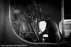 Preparation (Jack Haynes Photography) Tags: west coast railway trains steam dorset railways swanage scots preservation guardsman 46115