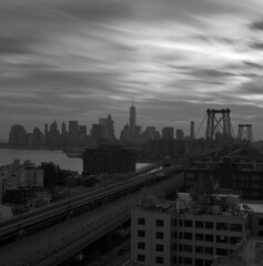 (Michael Sameth) Tags: 6x6 rollei sl66se kodak tmy longexposure leefilter bigstopper bw film analog 120 square newyork nyc manhattan city urban sunset