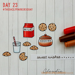 day23_30days coloring challenge (colorful capricorn) Tags: lawnfawn cardmaking handmade cards copicmaker stamping coloring papercrafting papercrafts milkandcookies cookies food sweets
