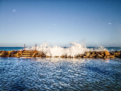 A summer day of rough sea (Ragnarkkr) Tags: loano seascape sea waves blue hdrphotography luminancehdr tonemapping stone moon