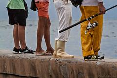 Waiting for the Catch (Mitch Ridder Photography) Tags: approved cuba havanacuba islandofcuba cuban caribbean largestcaribbeanisland island havana capitol rain rainyday rainphotography streetphotography workshop photoworkshop travelphotography cameravoyages mitchridder mitchridderphotography mitchridderphotographyallrightsreserved2016 fishing fishermen seawall maleconseawall ocean