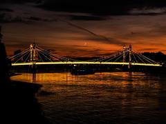 DSCF3713 (Cproland1986) Tags: london uk thames battersea bridge sunset clouds