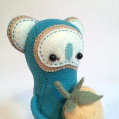 detail4 (MelissaSueArt) Tags: plush handmade softsculpture arttoy designertoy embroidery stitched stuffed wootberries fauxtaxidermy stopmotion koala kawaii