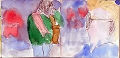 es waren wirre Zeiten und so hatten sie sich aus den Augen verloren (raumoberbayern) Tags: sketchbook skizzenbuch tram munich mnchen bus strasenbahn herbst winter fall pencil bleistift paper papier robbbilder stadt city landschaft landscape