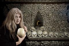 Bones (Apionid) Tags: ossuary nosferatu vampire bones skulls horror selfportrait nikond7000 werehere hereios 366the2016edition 3662016 day217366 4aug16 knolling cousinesme