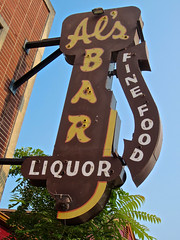 Al's Bar, Cincinnati, OH (Robby Virus) Tags: cincinnati ohio als bar sign signage liquor booze alcohol fine food dive locals