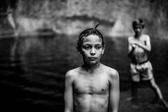 Cascade d'été (PaxaMik) Tags: cascade baignade swimmer baigneur rivière river noiretblanc noir n§b portrait portraitnoiretblanc frenchportrait