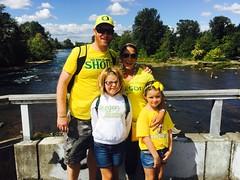 Autzen Footbridge (pete4ducks) Tags: eugene bridge river water willametteriver 2016 iphone yellow family oregon pete emily evie evangeline emilyliedtke madelyn