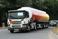 SCANIA P420 WX62AXG SAINSBURY`S (WESTROWMAN) Tags: tanker scanialorry scaniap420 sainsburys a143burystedmunds