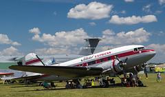 N103NA DC-3, Oshkosh (wwshack) Tags: airventure2016 c47 dc3 dakota douglas eaa eaaairventure flabobexpress kosh osh oshkosh skytrain usa unitedstates whittmanregional wisconsin n103na