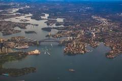 SYDNEY (satochappy) Tags: sydney sydneyharbour nsw australia plane ocean harbour bay river