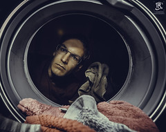 Inside a Washing Machine? (Tristan Roebersen) Tags: tristan roebersen t 70d eos canon camera selfie self i myself me portrait nice cloths washing machine wash pink color dark grey cloth washingmachine