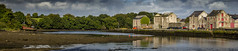 Ramelton Wharf (Trev Bowling) Tags: donegal eire ireland wharf ship tide low buildings dock panoramic pano ramelton quay river estuary
