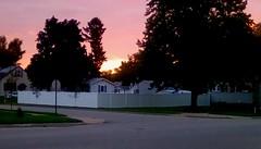 Sunrise - HFF. (Maenette1) Tags: sunrise happyfencefriday menominee uppermichigan flicker365