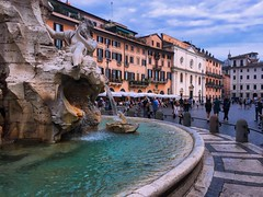 Piazza Navona - iPhone (Jim Nix / Nomadic Pursuits) Tags: jimnix nomadicpursuits iphone iphone6 travel europe italy rome roma fountain plaza piazza fountainoffourrivers bernini piazzanavona clouds architecture history landmark tourism tourist aurorahdr2017 macphun