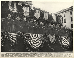 Reviewing Party at the Massachusetts State House (State Library of Massachusetts) Tags: wwi massachusettsstatehouse boston massachusetts henrycabotlodge benedictcrowell channingcox albertplangtry calvincoolidge worldwari
