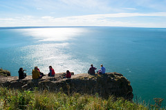 "Have some conversation on the ""edge"" (wpc302) Tags: capesplit novascotia nikon d3300 dslr marine sea ocean shore bayoffundy fundy hiking trail"