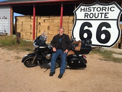 Just me! On our National Parks tour around the Grand Canyon (D.Fletcher) Tags: motorcycle scooter scoot indian roadmaster route66 what blast iphone dfletcher justdave