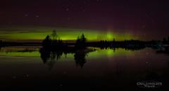 Boulder Lake (Greg Lundgren Photography) Tags: night aurora auroraborealis northernlights green magenta northshore minnesota onlyinmn sky stars boulderlake reflection bigdipper duluth trees