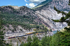 Oil First (whosoever2) Tags: oil cp canadianpacific lytton bc britishcolumbia canada thompson river canyon ac4400cw 8553 8619 mountain nikon d7100 september 2016 ashcroftsub
