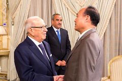 Official visit at the Presidential Palace. (ITU Pictures) Tags: محمد الباجي قائد السبسي beji caid essebsi houlin zhao wtsa16 cartage tunis itu uit