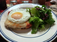 Croque Madame (AndyS03) Tags: food frenchfood sandwich egg bread cheese croquemadame iphone iphone7