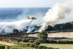 Incendio platamona (7) (Autolavaggiobatman) Tags: pineta elicottero stagno fiamme fumo mare sardegna canadair incendio platamona