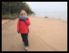 Wife on Lake Vnern beach... (iEagle2) Tags: ehefrau ep2 olympusep2 olympuspen beach vnern sea woman wife autumn female frau femme