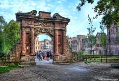 The Elizabeth Gate Archway of Heidelberg Castle (PhotosToArtByMike) Tags: heidelbergcastle elizabethgate heidelberggermany heidelbergerschloss heidelberg germany ruins maingate archway neckarriver oldtownheidelberg medieval neckarvalley badenwrttemberg europe