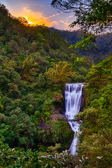 三貂嶺_合谷瀑布_夕陽 (Leonarka(阿傑)) Tags: 1122mm nd1000 haida magiclantern 三貂嶺 合谷瀑布 hdr efm1122mm eosm sunset 夕陽 森林 河流 樹木 野外 canon 500px waterfall