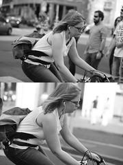 [La Mia Citt][Pedala] (Urca) Tags: milano italia 2016 bicicletta pedalare ciclista ritrattostradale portrait dittico bike bicycle nikondigitale mir biancoenero blackandwhite bn bw 89841