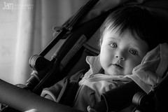 Here we go! (Jam Photography & Digital Art) Tags: portrait baby eva child daughter son whiteandblack
