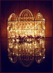 Reflections (Jewel Appletor aka Karalyn Hubbard) Tags: christmas castle art photoshop reflections photography lights photo artwork artist photograph whimsical seasonsgreetings