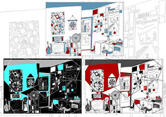Interior Line Drawings (Ellis Miles Stewart) Tags: lines bedroom interior shapes surroundings linedrawing invert digitaledits
