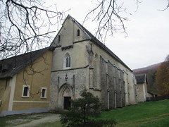 Medieval church and buttresses, Pleterje, Slovenia (Paul McClure DC) Tags: church architecture historic monastery slovenia slovenija dolenjska entjernej pleterje nov2014
