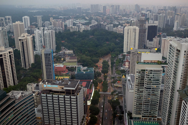 View of Orchard Road and its surroundings from Ion Sky