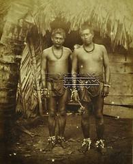 Portret van twee Indiaanse/Inheemse mannen