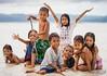 Local Village Kids on White Beach, Boracay, Philippines (PhotoFrenetic) Tags: sepia kids sand laughter villagekids whitebeach wetsand handsintheair kidsbeingkids villagechildren kidsinwater kidswithsticks kidsonbeach
