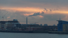 IMGP2187 (mattbuck4950) Tags: sunset england london water clouds europe unitedkingdom january rivers canarywharf riverthames 2015 londonboroughoftowerhamlets londonboroughofsouthwark
