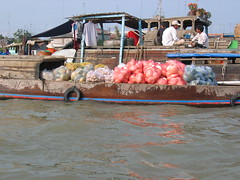 Boats of the Floating Market Mekong Delta