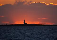 Lady Isle lighthouse sunset (cmax211) Tags: sunset sea sky lighthouse lady island scotland clyde blurred isle firth troon ayrshire mediumquality